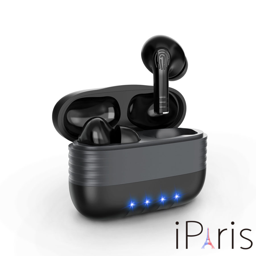 iParis NEW Wireless Earbuds, Bluetooth 5.0 Headphones with Charging Case, Hands-Free Headset with Noise Cancellation Mic, Touch Control, 35 Hours Playback for iPhone and Android